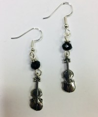 Violin or Violinist, musician themed earrings, on Sterling ...