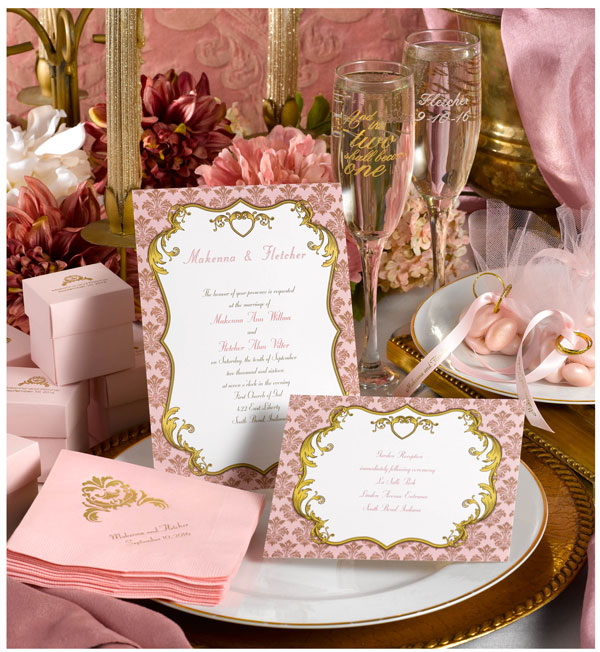 Gilded Romance Shades of pink and lots of gold