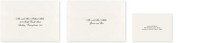 Wedding Envelope Addressing Ann S