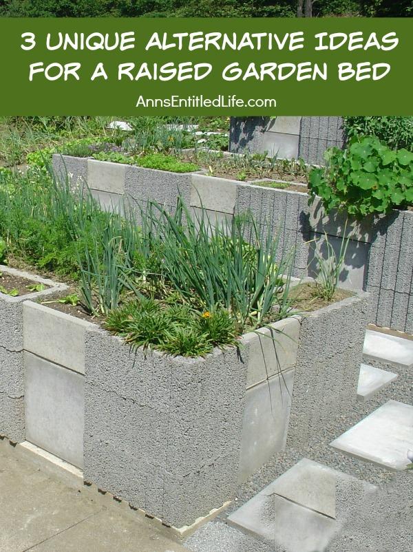 Unique Alternative Ideas For A Raised Garden Bed