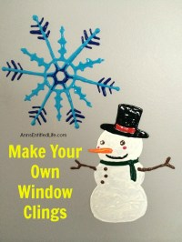 Make Your Own Snowman Window Cling