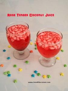 Rose Tender Coconut Juice / Rose Ilaneer juice