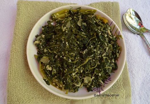 Arai Keerai Poriyal / Greens Stir fry