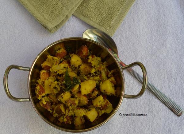 Jackfruit Seed Stir Fry / Palakottai Poriyal