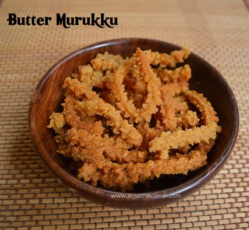 Butter Murukku | Wheat Murukku | Butter Chakli