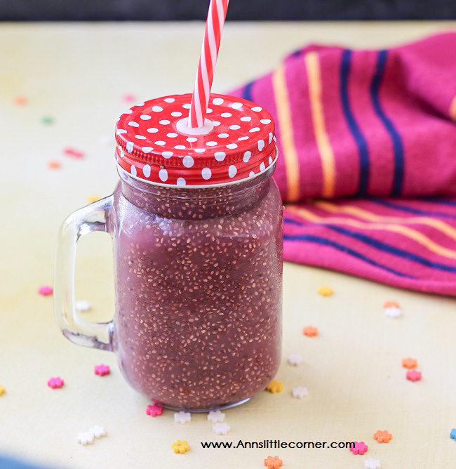 Pomegranate Chia Seed Drink