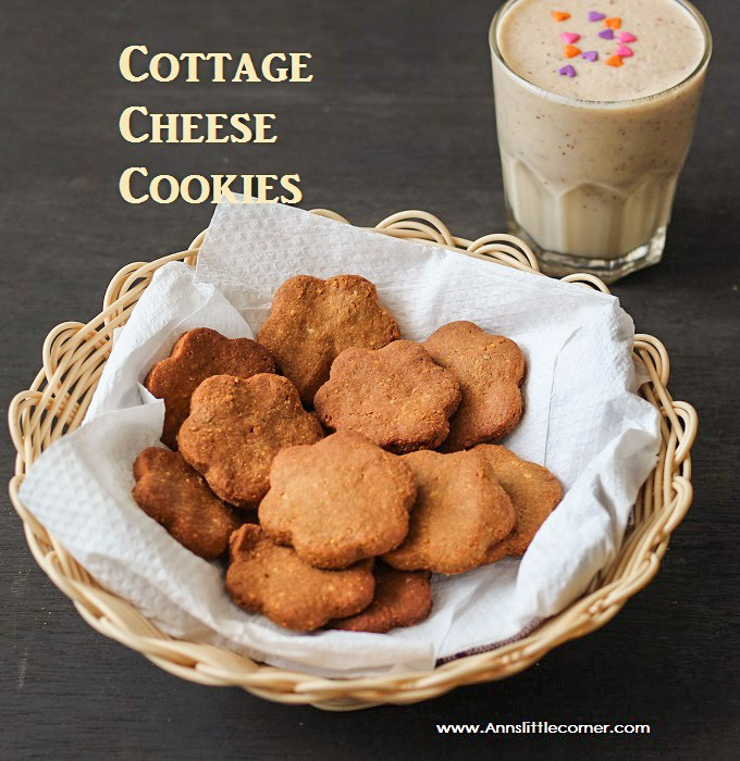 Cottage Cheese Cookies / Paneer Cookies