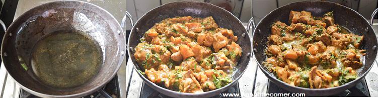 Coriander Chicken Fry step 5