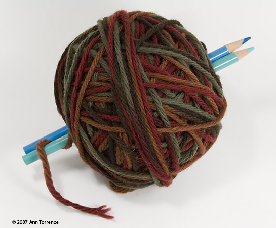 how to hand wind a pull skein