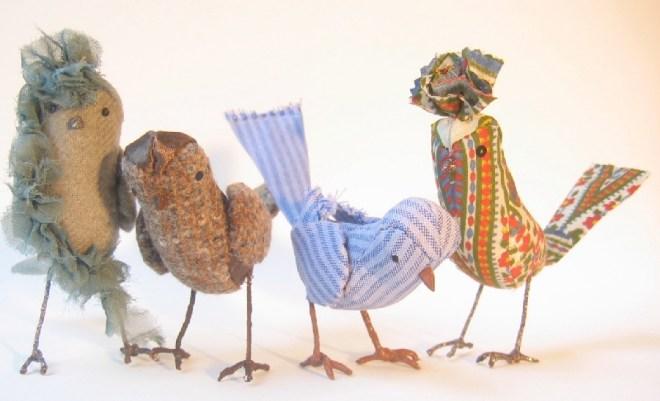 handmade fabric birds