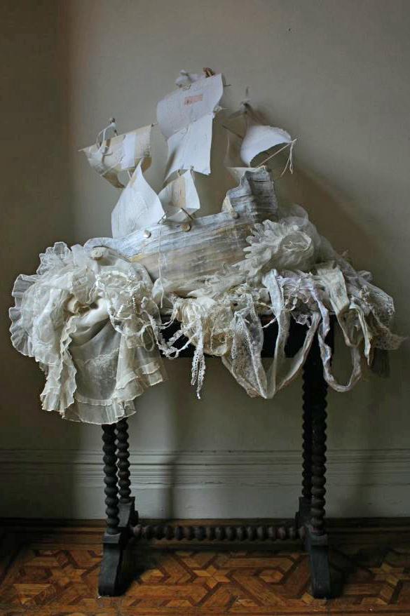 paper mache shipwreck