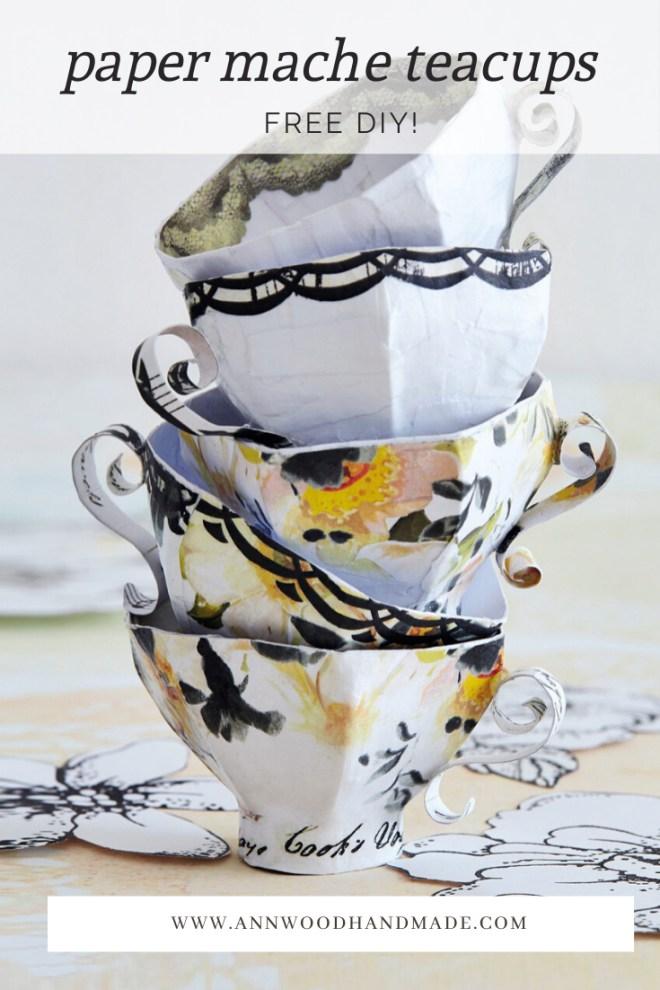 paper mache teacup tutorial