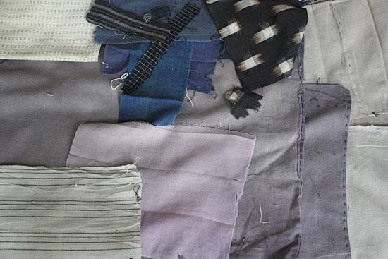 purplish grey antique japanese textiles