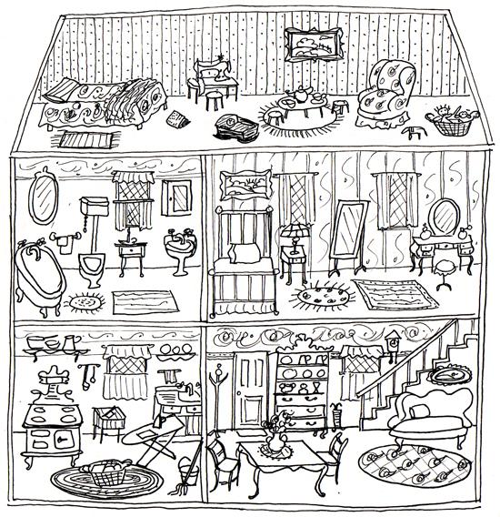 Dollhouse Ann Wood Handmade