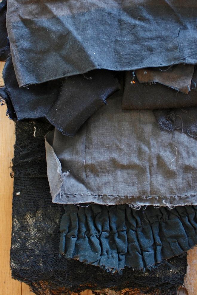 edwardian fabric scraps
