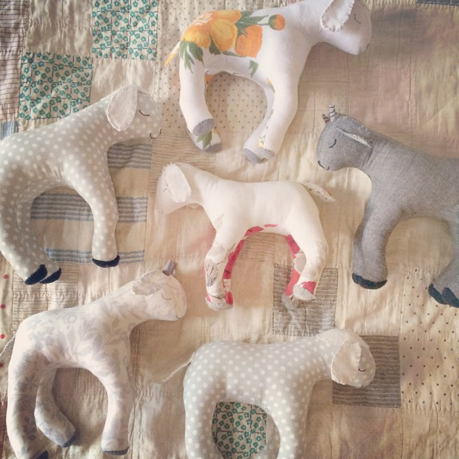 handmade lambs and goats
