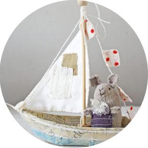 paper mache boat ornament diy