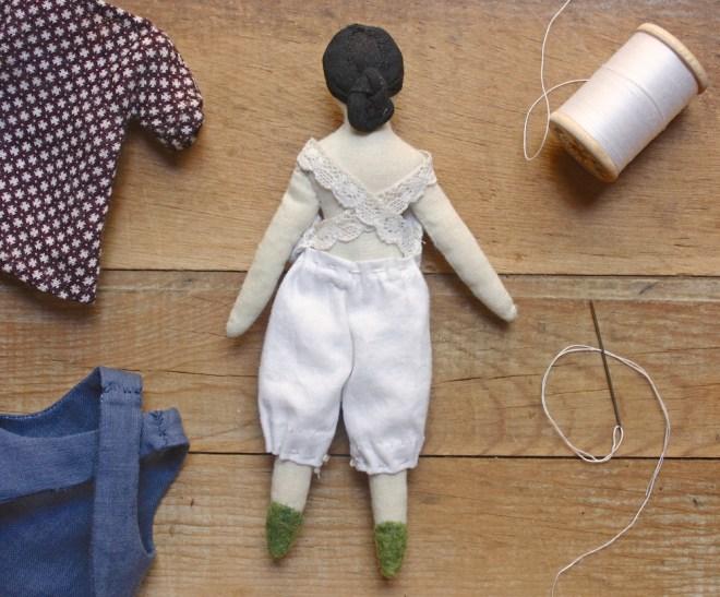 tiny rag doll back
