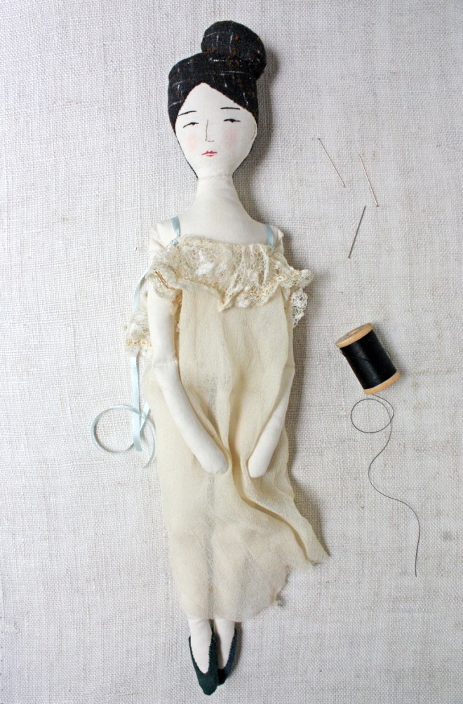 rag doll in a frothy negligee