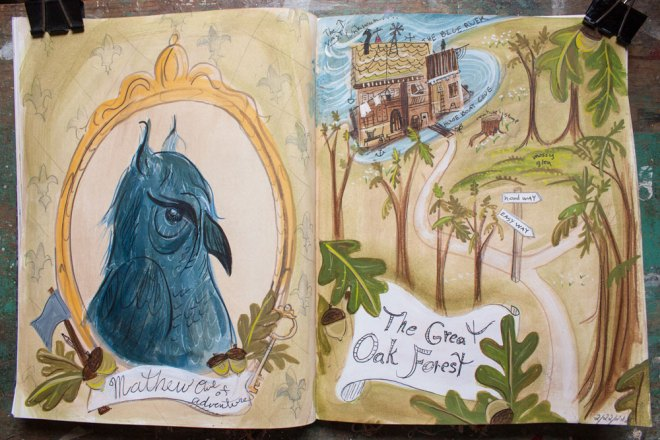 sketchbook : mathew and the great oak forest