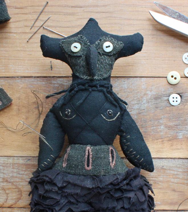 owl spirit doll