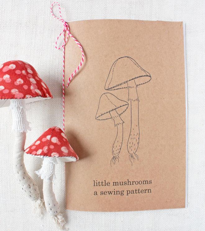mushroom sewing pattern