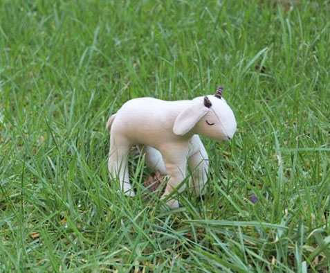 handmade goat doll