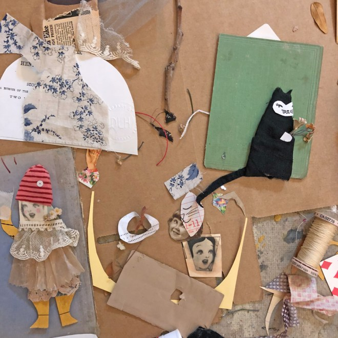 guick figure expeiments created with paper and fabric
