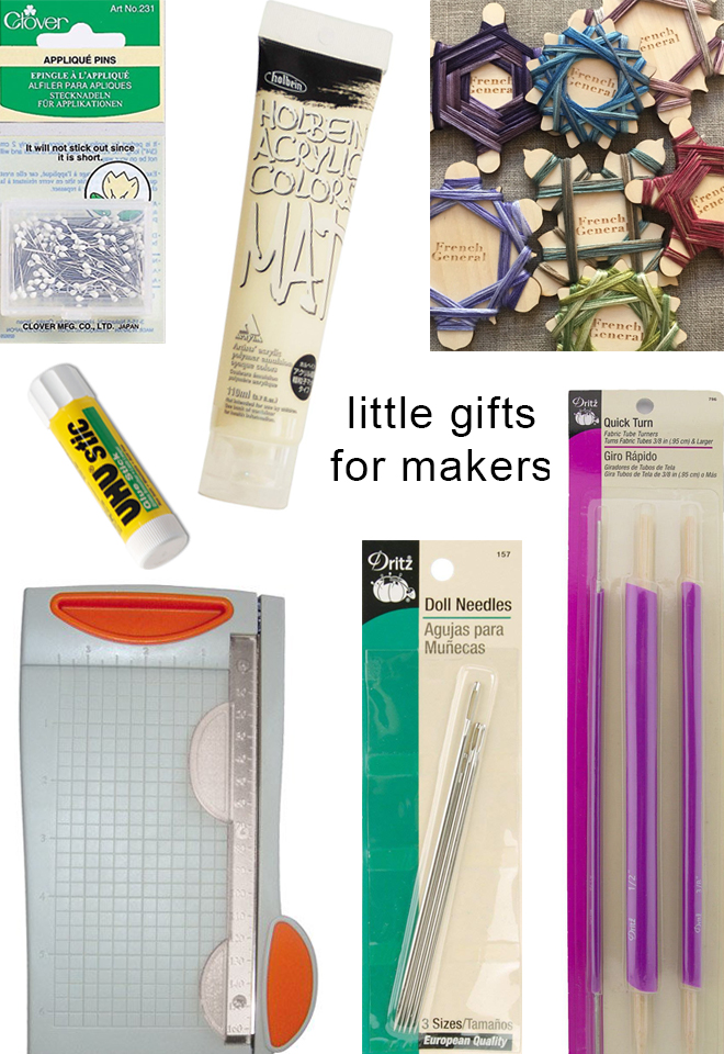 a collection of sweet little gifts for makers