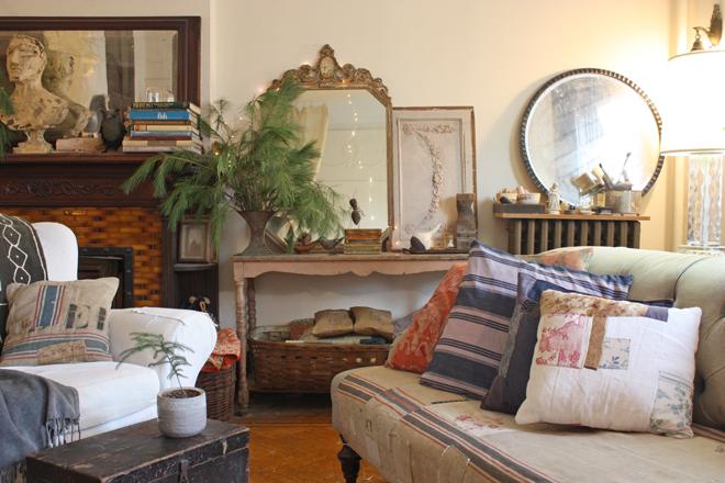 vinatge and antique fabric pillows