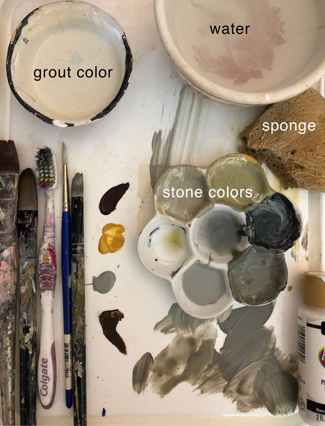 miniature stone hearth paint colors