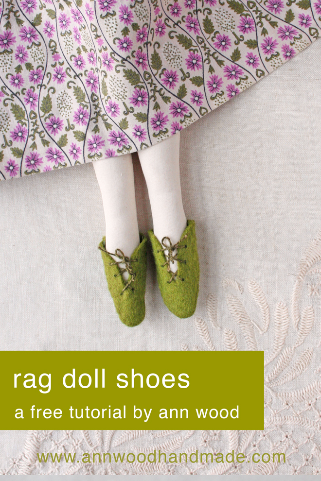 doll shoe tutorial