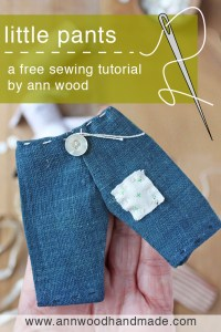 free doll pants sewing pattern