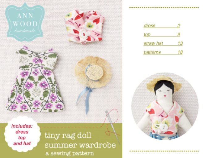 easy doll clothes patterns and a free mini straw hat diy