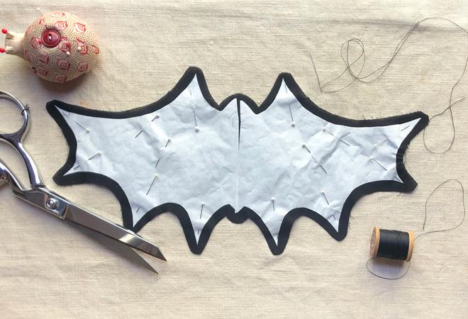 iron bat template to fabric