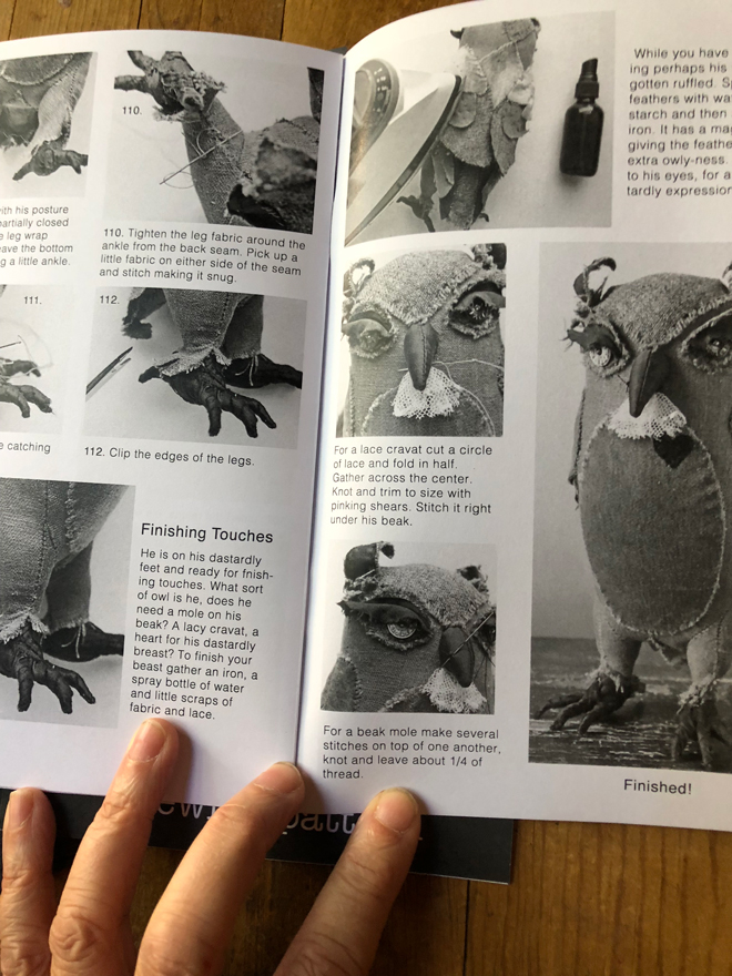 owl sewing pattern booklet