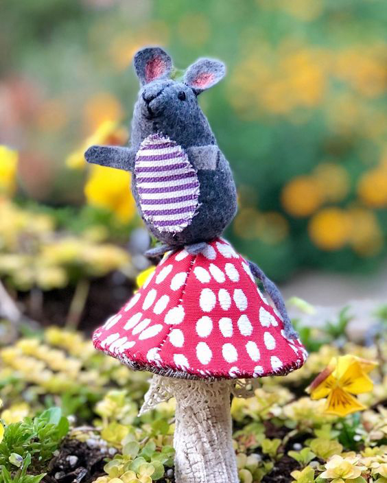 mouse and mushroom sewing patterns