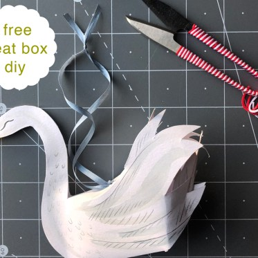 paper swan ornament treat box diy