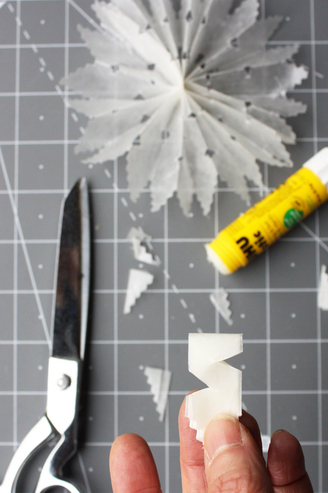 wax paper crystal tutorial