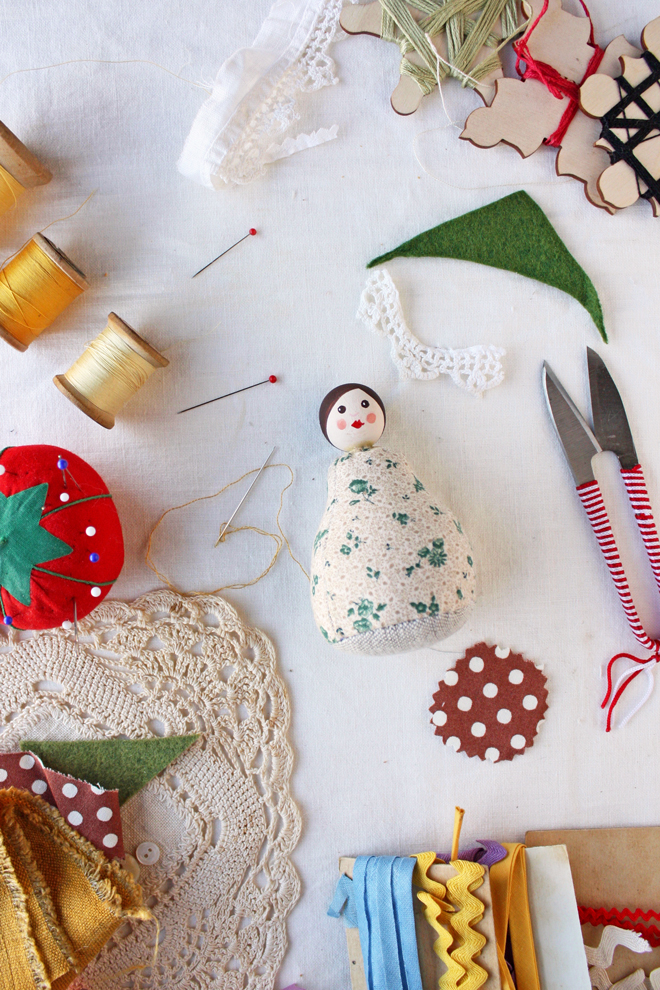 pin cushion doll free sewing pattern