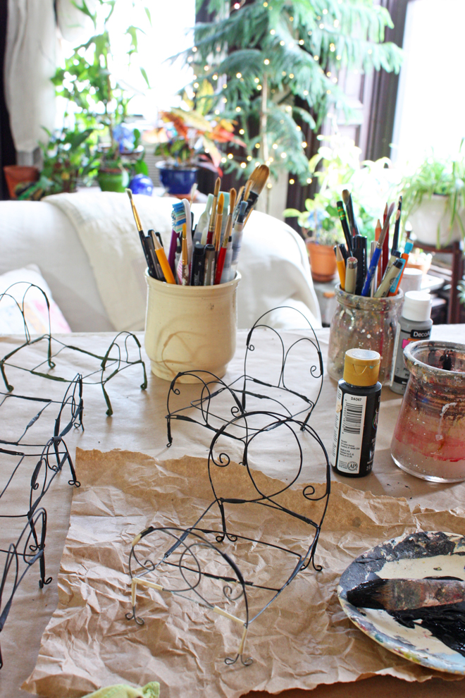 wire doll bed tutorial