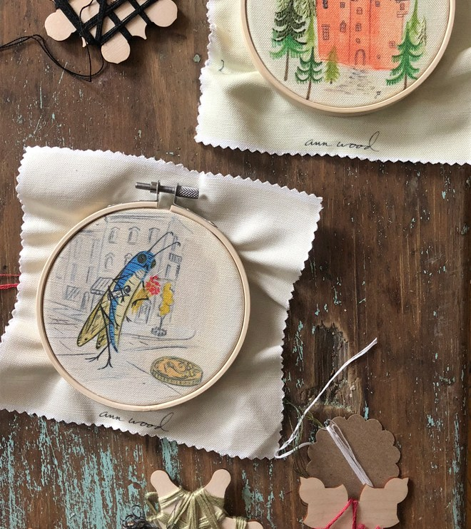 embroidery : stitch paintings