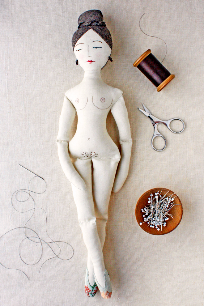 nude rag doll sewing pattern