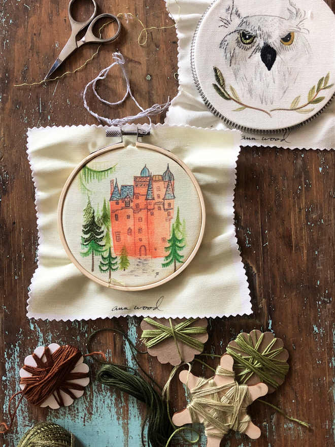 stitch painting embroidery