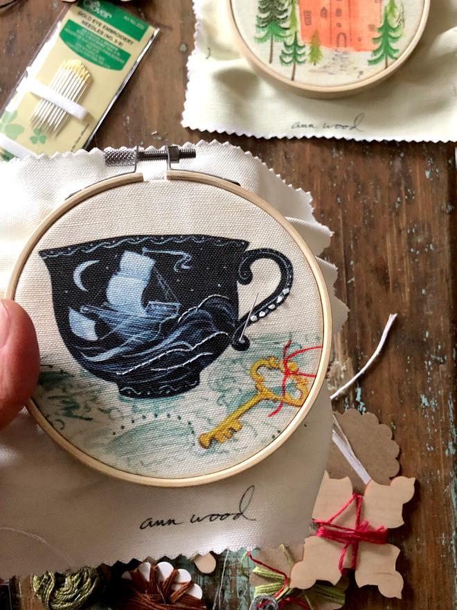 painting sampler - teacup