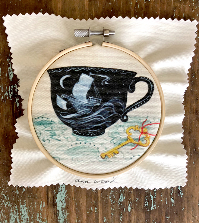 embroidery - teacup stitch painting