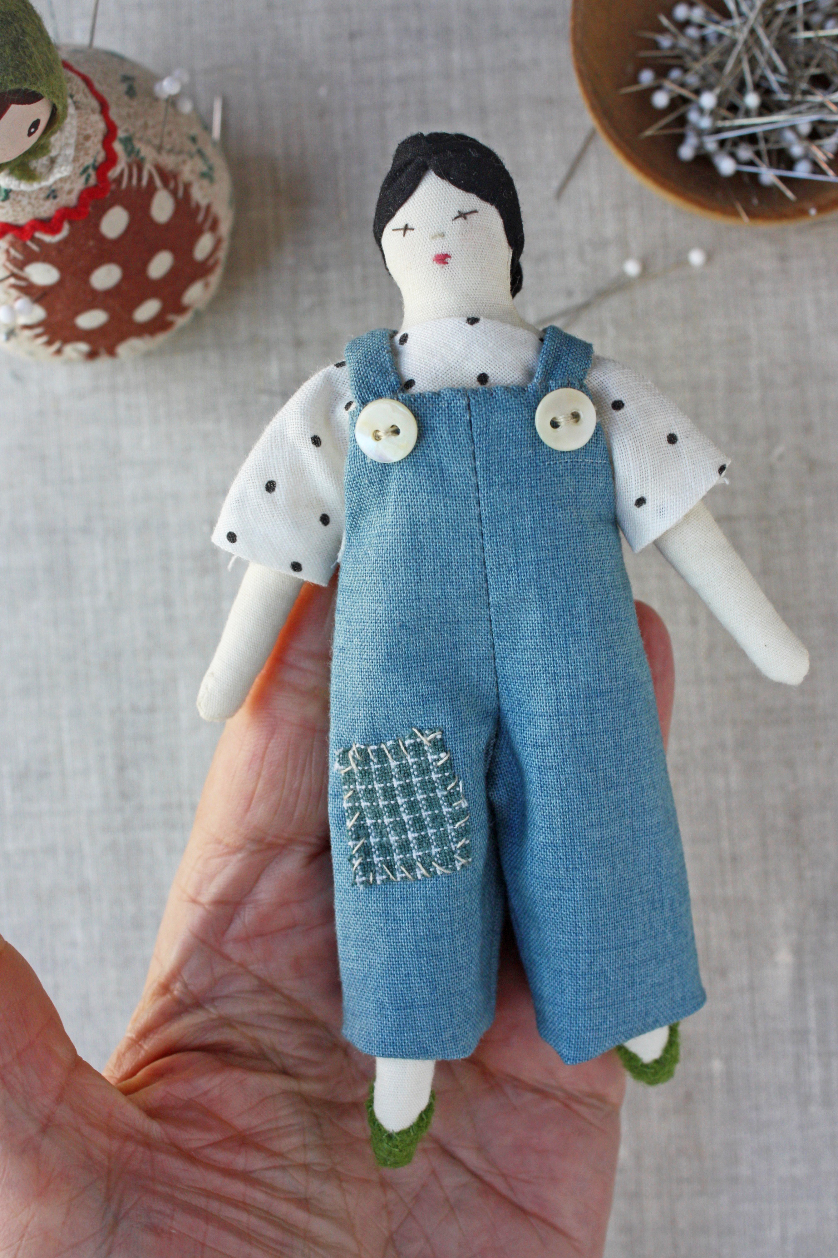 doll overalls sewing pattern