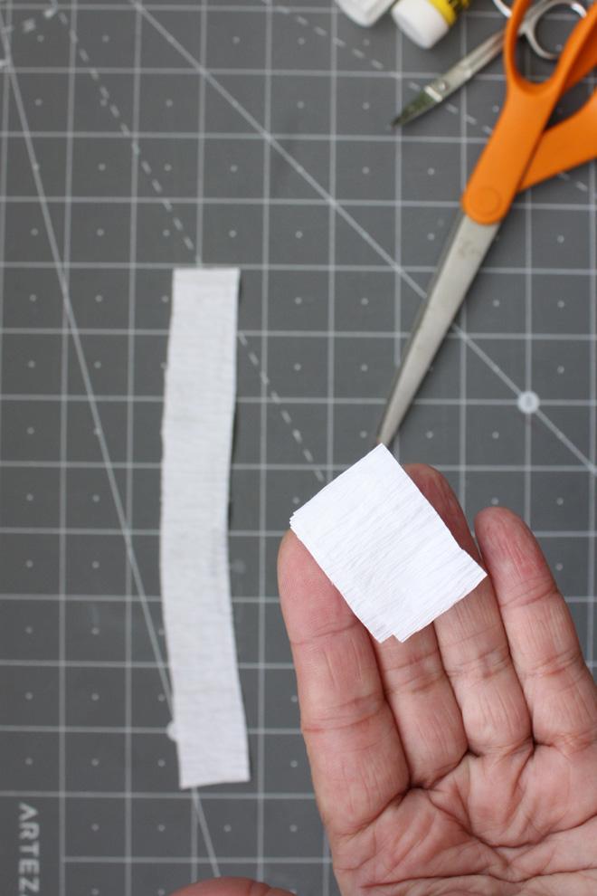 fold strip several times