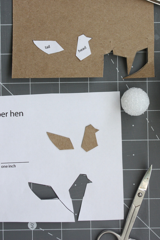 make a miniature hen