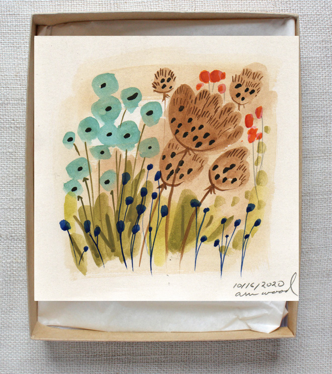 small painting : flowers